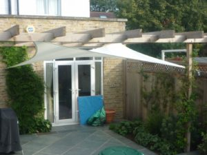 Shade Sails in Garden