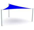 Triangular Shade Sail Canopy Safe Shade Range