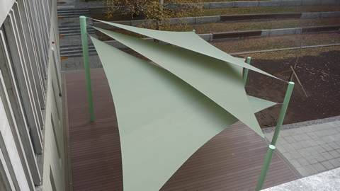 Shade Sail Installation Essex University Shaded Nation