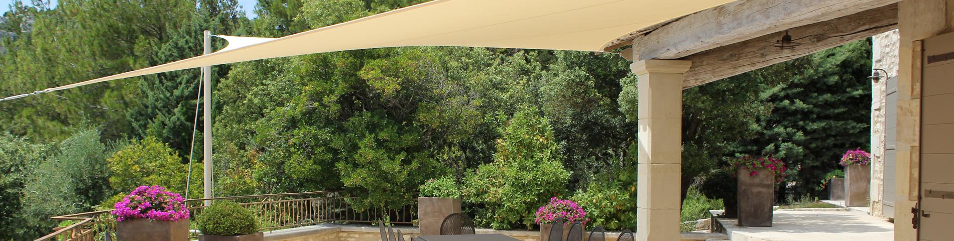shade sail structures garden shade sails sail shade. Black Bedroom Furniture Sets. Home Design Ideas