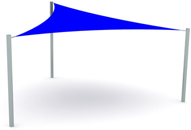 australian shade sails 3m x 4m x 5m premade triangular shade sail structure. Black Bedroom Furniture Sets. Home Design Ideas